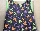 Halloween Dress - Halloween Pinafore - Baby Dress - Baby Halloween - Baby Pinafore