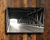 Old Bridge - Captain Swift Bridge - Black and White decor - Old Bridge photography - Old Bridge decor - Old Bridge art