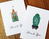 Chinoiserie Thank You Notes, Set of 5