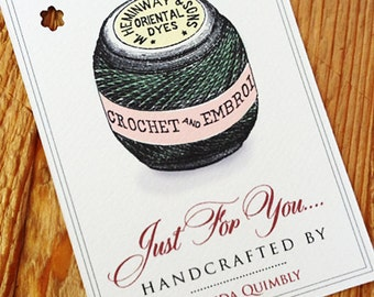 Personalized Crochet, Embroidery Tags or Labels, set of 18