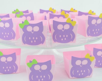 Owl Candy Cups, Owl Baby shower Theme, Owl Birthday, Owl Theme, Girl Baby Shower, Pink Theme