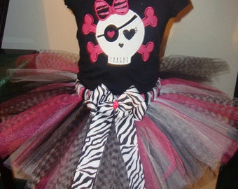 Girly Skull tutu set Funky