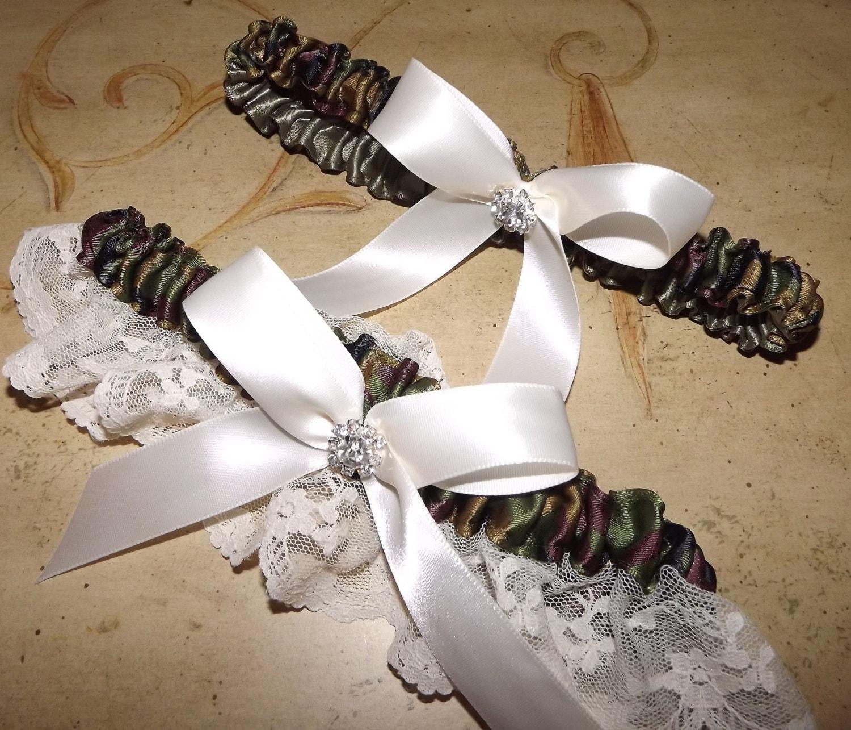 Camo And Lace Wedding Garter Set Camouflage Garter Belt Camo
