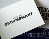 Fun Be My Groomsman Card, Best Man, Usher, Ring Bearer Wedding Party - Manly Will You Be My Card - Way to Ask Groomsmen Cards (Set of 4)