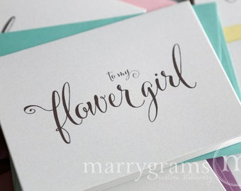 Thank You Cards for Bridesmaid, Maid of Honor, Groomsman, Flower Girl, To My Wedding Party Thank You Cards Bridal - CS07 (Set of 4)