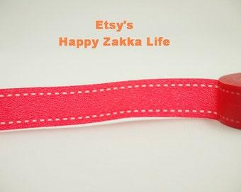 Japanese Washi Masking Tape - Red Ribbon  - 11 yards