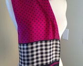 SALE!!! Polka Dot Vintage ECHO 100% Silk Scarf