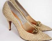Great Pair Of Vintage Women's Stiletto High Heel Shoes Size 6 AAA/AAAAA