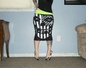 Misfits - Patriotic Fiend - Black Pencil Skirt