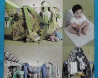 Diaper Bag, Changing Pad and Pacifier Bag