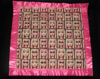 Barbie Cotton/Fleece Car Seat Blanket 22x22 Personalized