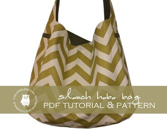 Slouch Hobo Bag - PDF Tutorial and Pattern