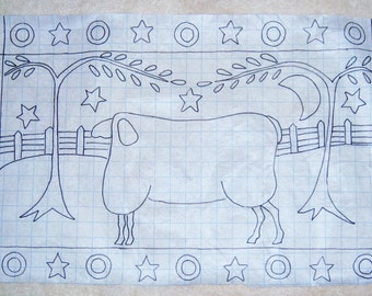 Primitive Rug Hooking Pattern-Sheep#113