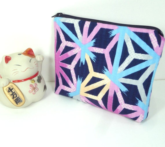 Travel Pouch Gift Idea Under 15 Make Up Bag Kimono Cotton