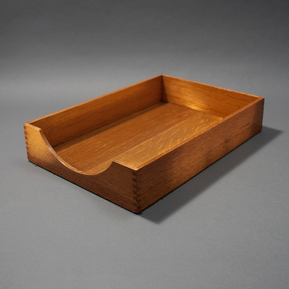 Items similar to vintage wood letter and legal file tray for Legal letter tray