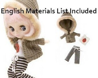 Petite Blythe waffle parka,sweat pants and top Pattern PDF English templates names, Translated materials list and sewing key included