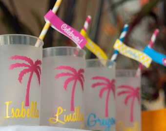 Hawaiian Luau, Luau Party, Luau, Hawaiian Luau Party, Hawaiian Party, Party Decor Straw Flags, Tags