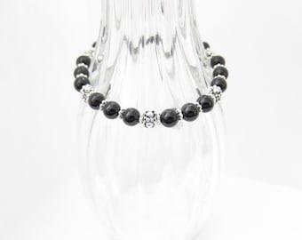 Onyx Gemstone Beaded Hemp Bracelet