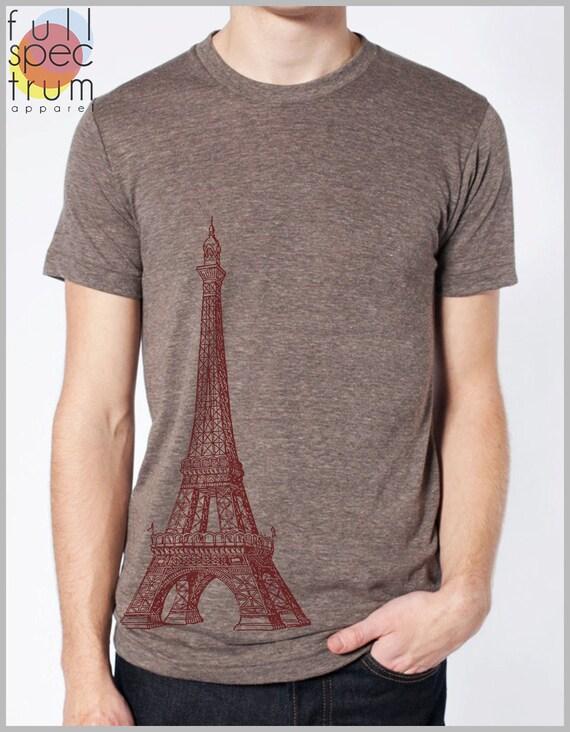 Eiffel Tower Paris - Mens' Women's Fashion T shirt - American Apparel Tee Tshirt  9 COLORS