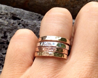 Stack 'em Up thick stackable Rings in Gold filled, rose gold filled, and sterling silver (INDIVIDUALLY SOLD)