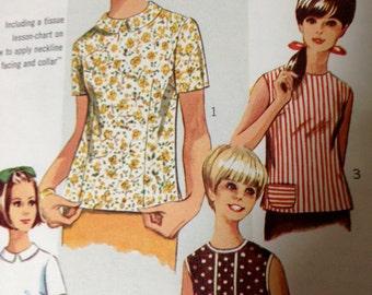 Simplicity young junior teen  size 8 to 10 bust 30 half  7457 60s era