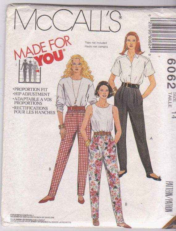 Stretch Knit Sewing Patterns : Sewing pattern for stretch knit pull on pants by beththebooklady
