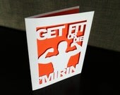 Get Fit or Die Mirin Funny Greetin Card, Fitness Lover Gift Workout Fitfam Musclehead Gym Bro Personal Trainer