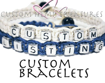 ONE DAY SALE Design Your Own Couples Bracelets, Great Gift For Her, set of 2 Bracelets, Couples Gift, Personalized jewelry