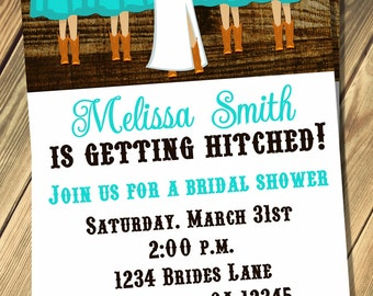 Cowgirl Bridal Shower Invitation Print Your Own