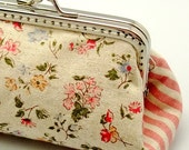 Little flowers - Small clutch / Coin purse / Card holder R0