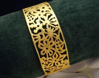 "Gold Plated Solid Sterling Silver Bracelet - ""Spring"""