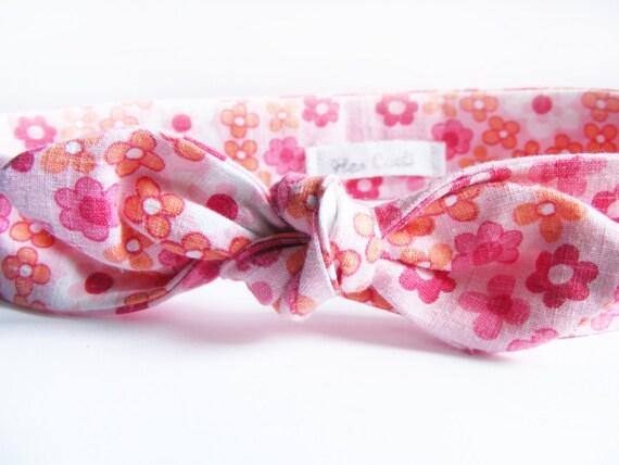 Diadema de tela floral , Diadema Cable No , Cinta para la cabeza de proa ,
