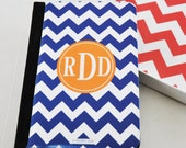 Personalized Navy Blue Chevron iPad Mini Folio Case