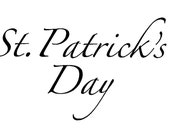 St. Patrick's Day Greetings - Words for Digital Download Only