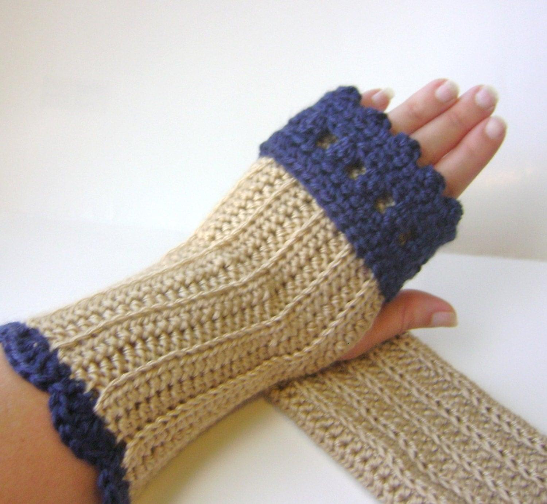 Crochet Fingerless Gloves Pattern Easy : PDF Crochet Pattern Fingerless Gloves with Cuff Easy Crochet