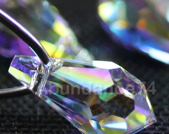 6pcs Swarovski Crystal 6000 15mm Teardrop Pendant Crystal Clear AB