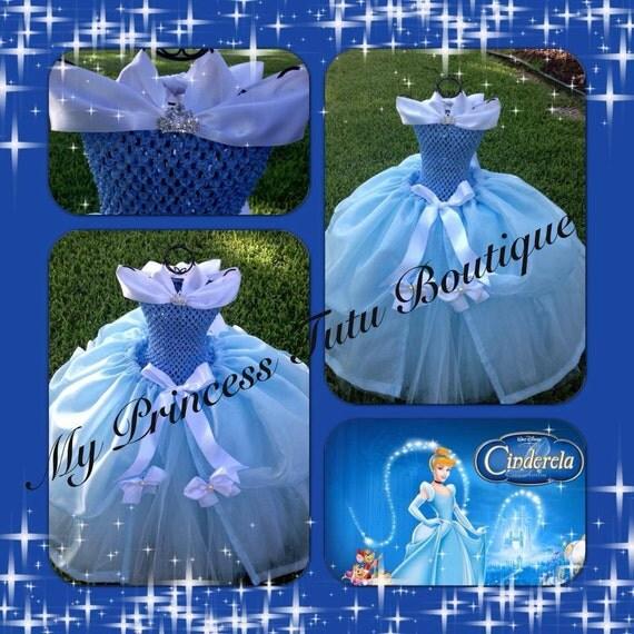 Items Similar To Cinderella Tutu Dress Cinderella Girls