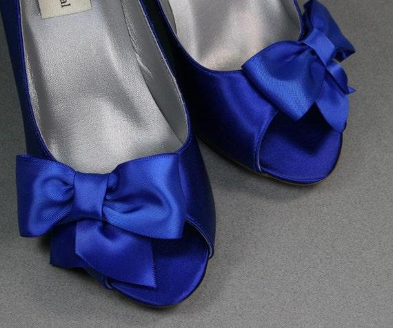items similar to wedding shoes royal blue wedge wedding
