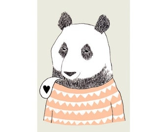 Print by Depeapa - Bear illustration - 8 x 11.5 - A4