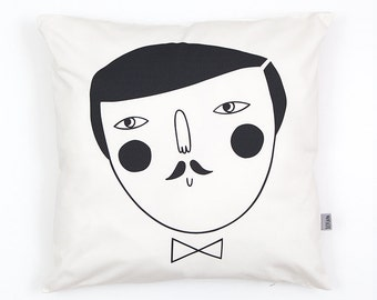 Man Cushion Cover by Depeapa, organic cotton pillow case, decorative cushion