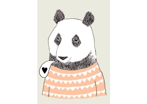 Print by Depeapa - Bear illustration - 8 x 11.5 - A4