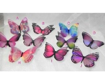 Sparkling Pink iridescent resin butterflies