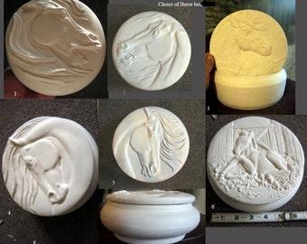 Choice, horse box, Colt, Ring box, Nick Knack box, trinket box, Stallion, Jewelry box, Mustang box, Ready to paint, Ceramic bisque, u-paint