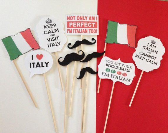 Decoracion Italiana Para Fiestas ~ Italian Photo Prop Set  Italian Theme party, Italy, Wedding, Bridal