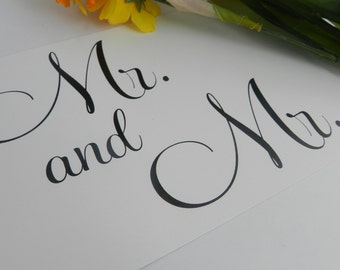 Wedding Reception Swetheart Table - Mr. and Mr. Sign