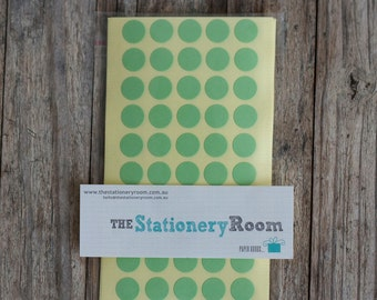 Mini Pastel Green Circle Stickers - 1cm Circle Label Sticker Seals - 200 Blanks per set