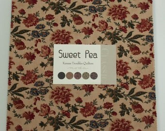 Sweet Pea Fabric Collection by Kansas Troubles for Moda Fabrics - 1 Layer Cake