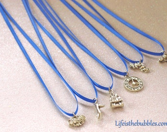 Cake Pulls, Happily Ever After Cake Pull Charms with  Magical Meanings, 6 Cake Pulls Charms, Choice of Ribbon Color by Life is the Bubbles