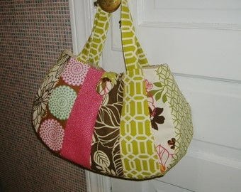 Purse Pink Lime Green  Brown White