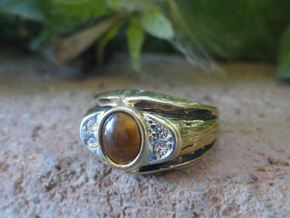 1960s Seta Tigers Eye Mens Ring By Itssimplyme On Etsy